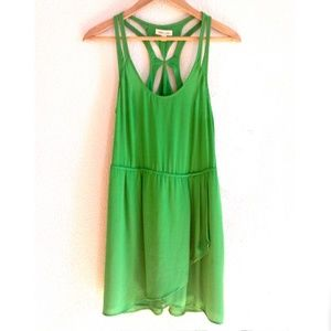 Silence and Noise Green Sleeveless Mini Dress